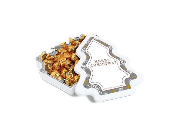 Maxi Christmas Tree Tin – Gold Foiled Caramels